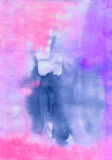 Watercolor vivid pink  and blue  abstract   wet painting   drawi Stock Photography