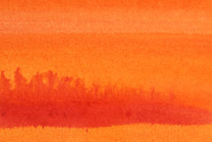 Watercolor Wash. Photo of a watercolor wash background in shades of orange and red. My own work Royalty Free Stock Photography