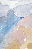 Watercolor wash background Royalty Free Stock Photo