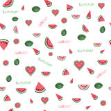 Watercolor watermelon pattern Royalty Free Stock Photography