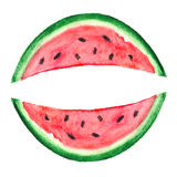 Watercolor Watermelon Slice. Vector illustration for your design Royalty Free Stock Photos