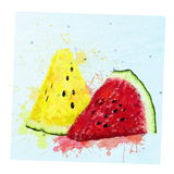 Watercolor watermelon slices Royalty Free Stock Photography
