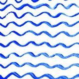 Watercolor wave background. With empty space for your text stock illustration