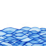 Watercolor wave background with empty space for your text. Watercolor wave background with empty the space for your text Royalty Free Illustration