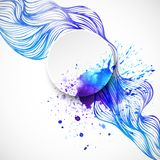 Watercolor wave background. Vector illustration. EPS 10 Royalty Free Stock Photography