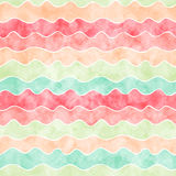 Watercolor wavy lines Stock Images