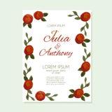 Watercolor wedding card Stock Photos