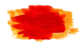 Watercolor Wet Background. Red Yellow Orange Wet Watercolor Back. Ground design elements for design. Watercolor stains isolated on white Stock Images