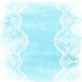 Watercolor with white lace Royalty Free Stock Images