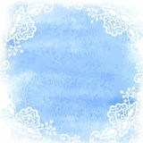 Watercolor with white lace Royalty Free Stock Photo