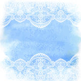 Watercolor with white lace Stock Photography
