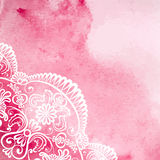 Watercolor with white lace Stock Image