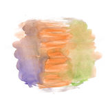 Watercolor white orange purple background, stains abstract isolated. illustration the watercolor Stock Photography