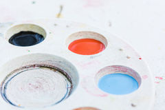 Watercolor white palette Royalty Free Stock Photo