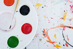 Watercolor white palette Stock Photography