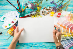 Watercolor white paper Royalty Free Stock Photography