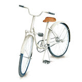 Watercolor white retro bicycle Royalty Free Stock Photos