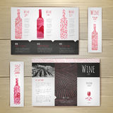 Watercolor Wine concept design. Corporate identity. Stock Photography