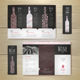 Watercolor Wine concept design. Corporate identity Royalty Free Stock Image