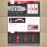 Watercolor Wine concept design. Corporate identity. Stock Photography