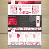 Watercolor Wine concept design.  Wed site design Stock Photos