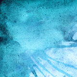 Watercolor winter turquoise cyan abstract texture background Royalty Free Stock Images
