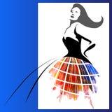 Watercolor woman Stock Photos