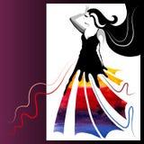 Watercolor woman Stock Image