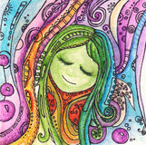 Watercolor wonderland fairy tale vector. Watercolor fairy tale vector illustration Stock Photos
