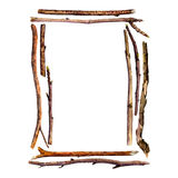 Watercolor wood twigs Stock Photography