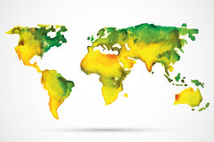 Watercolor world map Royalty Free Stock Photo