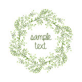 Watercolor Wreath. Branch Frame. Hand Drawn Illustration. Vector