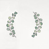 Watercolor wreath with eucalyptus leaves. Used for wedding invitation, greeting cards Stock Illustration