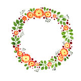 Watercolor wreath Royalty Free Stock Image