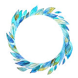 Watercolor wreath illustration Stock Photo