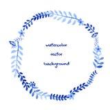 Watercolor Wreath Stock Image