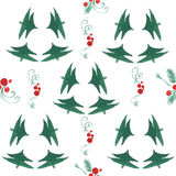 Watercolor x-mas  pattern Royalty Free Stock Image