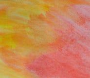 Watercolorbackground amarillo y rojo Imágenes de archivo libres de regalías
