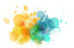 Watercolored kleks z kropkami ilustracji