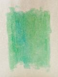Watercolored Paper. Green tone watercolor on textured paper Royalty Free Stock Photo