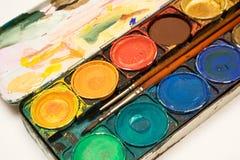 watercolors κιβωτίων Στοκ εικόνα με δικαίωμα ελεύθερης χρήσης