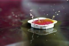 Watercolors με τις πτώσεις νερού ως εικόνες υποβάθρου Στοκ εικόνα με δικαίωμα ελεύθερης χρήσης