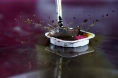 Watercolors με τις πτώσεις νερού ως εικόνες υποβάθρου Στοκ Εικόνες