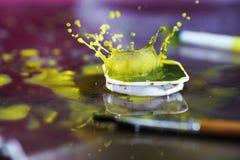 Watercolors με τις πτώσεις νερού ως εικόνες υποβάθρου Στοκ φωτογραφία με δικαίωμα ελεύθερης χρήσης