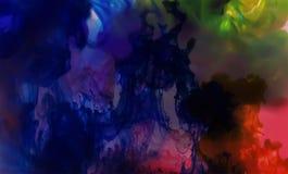 Watercolors παφλασμών για τα χρώματα, τα υπόβαθρα και τα σχέδια Στοκ Εικόνες