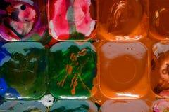 Watercolors που κινείται ο ένας με τον άλλον Στοκ φωτογραφία με δικαίωμα ελεύθερης χρήσης