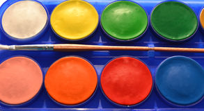 Watercolors Stock Photo