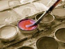Watercolors. Set in sepia tones Royalty Free Stock Image