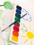 watercolors στοκ εικόνα