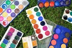watercolors imagens de stock